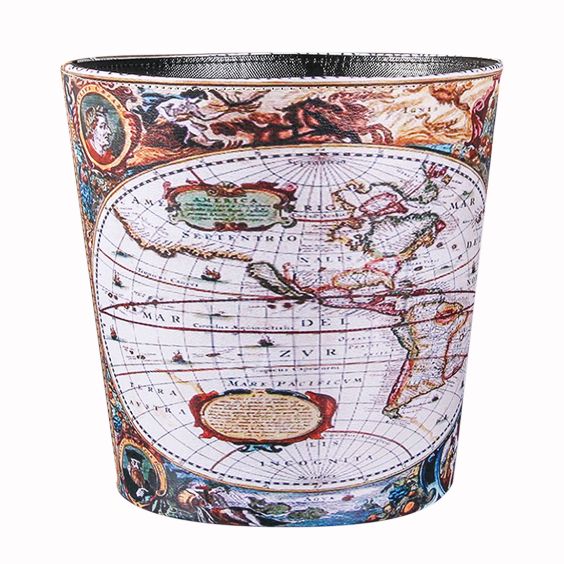British Style Trash Bin Household Uncovered Garbage Can