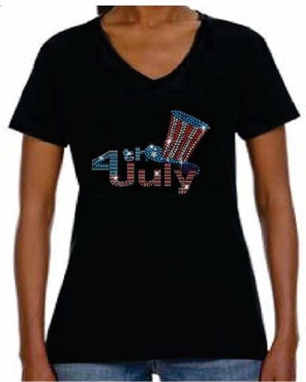 Fourth Of July Shirts Walmart : fourth, shirts, walmart, Shirts, Womens, Shirt, JRW-678, Women, Short-Sleeve, V-Neck-T-Shirt, Walmart.com