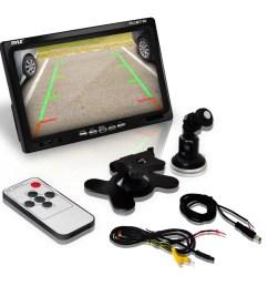 pyle plcm7700 backup rear view car camera screen monitor system pyle plcm7700 wiring diagram [ 1000 x 1000 Pixel ]