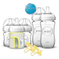 Philips Avent Natural Glass Baby Bottle Newborn Starter ...