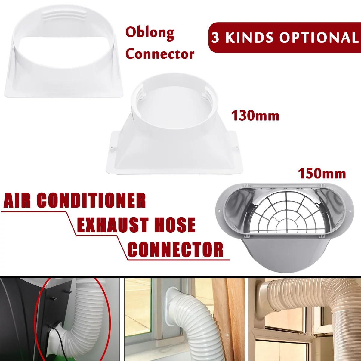 portable window exhaust hose tube connector for portable air conditioner fits 5 6