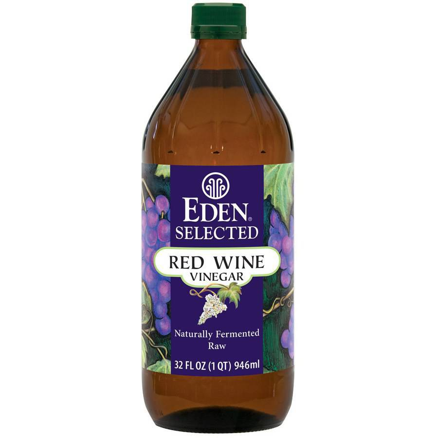 Eden Selected Red Wine Vinegar 32 fl oz Pack of 4