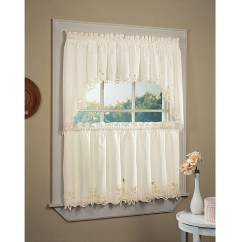 Kitchen Swag Curtains Purple Rugs Washable Chf You Batternburg Rod Pocket Set Of 2 Or Valance Walmart Com