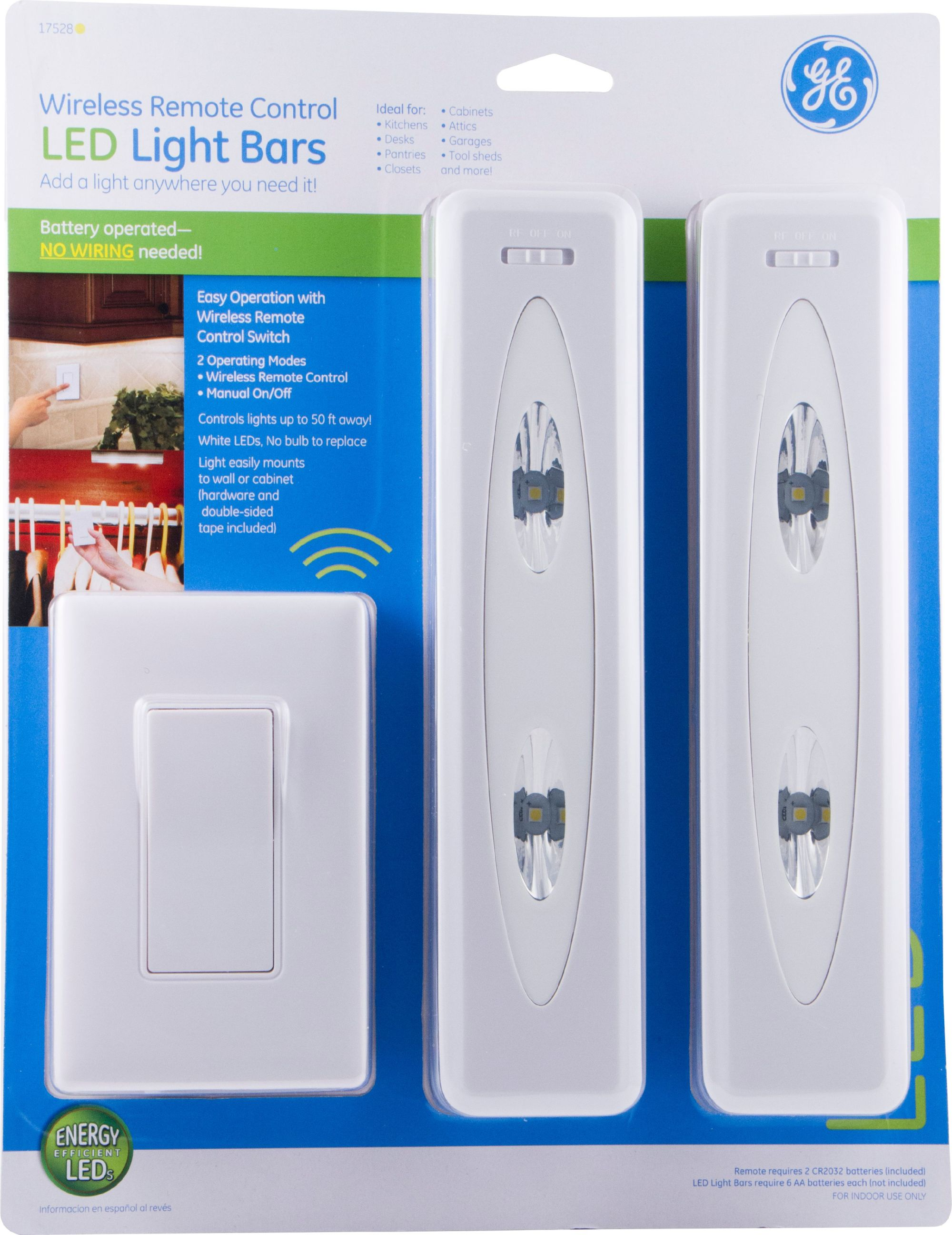 hight resolution of ge wireless remote control led light bars battery operated 17528 walmart com