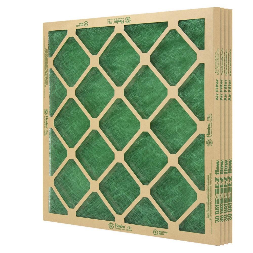 medium resolution of flanders 4 filters 14 x 20 x 1 precisionaire nested glass air filter walmart com