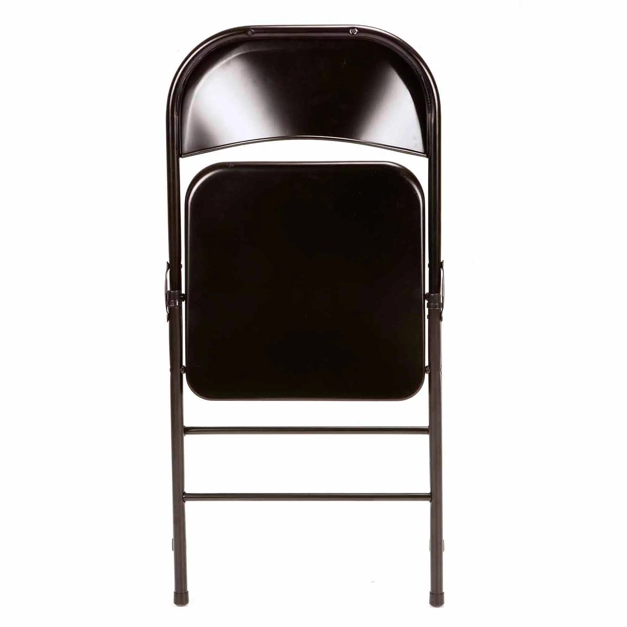 Steel Folding Chair Folding Metal Chairs Set Of 4 Seats Steel Black Party