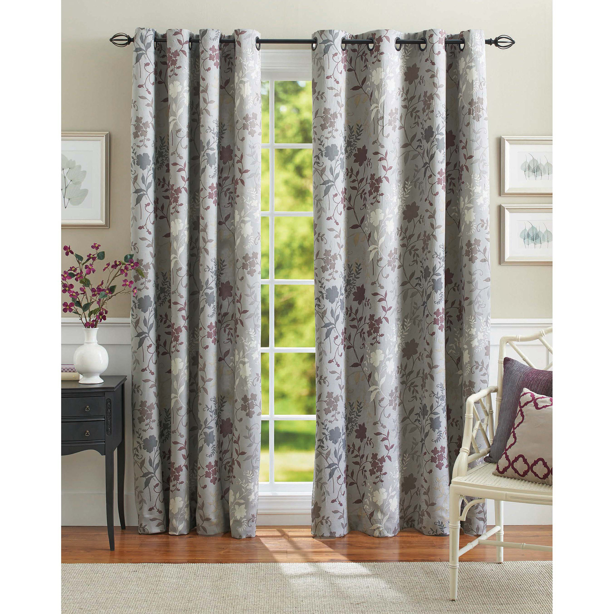 Better Homes and Gardens Calista Print Room Darkening Curtain Panel  Walmartcom