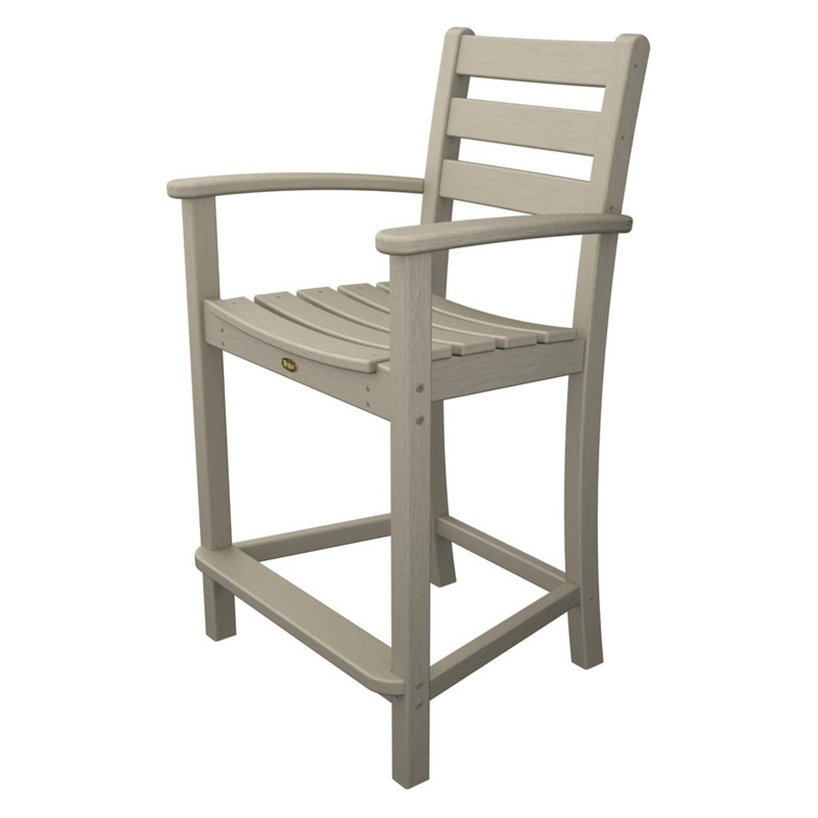 counter height arm chairs father christmas chair covers trex outdoor furniture recycled plastic monterey bay walmart com