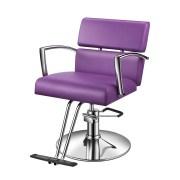 baasha modern purple salon chairs