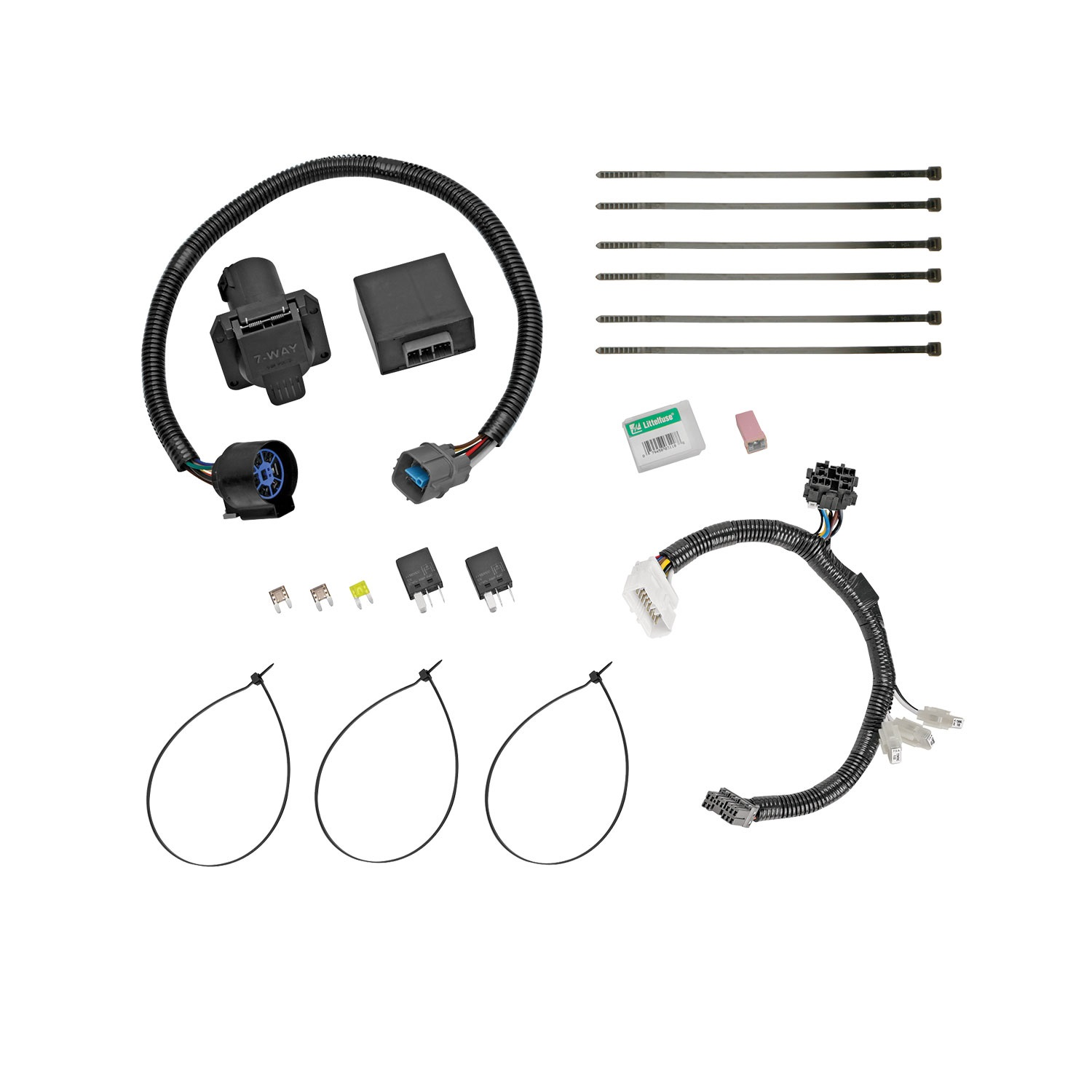 ford replacement oem tow package wiring harness 7 way schematic ford replacement oem tow package wiring harness 7way [ 1500 x 1500 Pixel ]