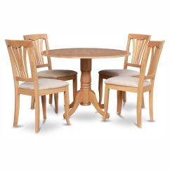 Drop Leaf Kitchen Table And Chairs Birthday Chair Cover Party City East West Furniture Dublin 5 Piece Dining Set With Avon Microfiber Seat Walmart Com