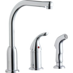 3 Hole Kitchen Faucet Bamboo Cabinets Elkay Lk3001cr Everyday With Remote Handle And Side Spray Chrome Walmart Com