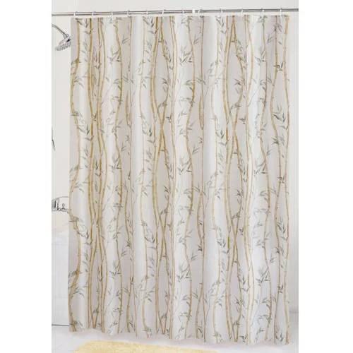 Mainstays Bamboo Garden PEVA Shower Curtain  Walmartcom