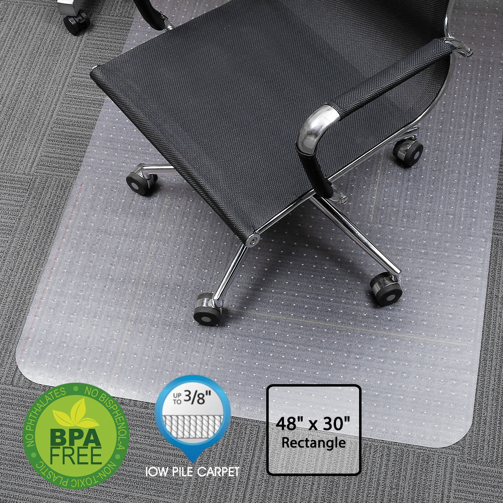 office chair mats for carpet and table slypnos translucent rectangular mat protector with non slip studded backing bpa