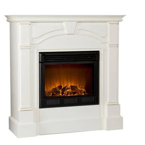 Carmel Electric Fireplace, Ivory