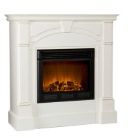 Carmel Electric Fireplace, Ivory