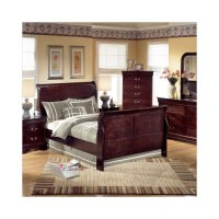 Ashley Furniture Janel Sleigh Bedroom Set in Dark Brown ...