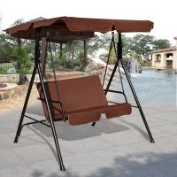 Costway Loveseat Patio Canopy Swing Glider Hammock ...