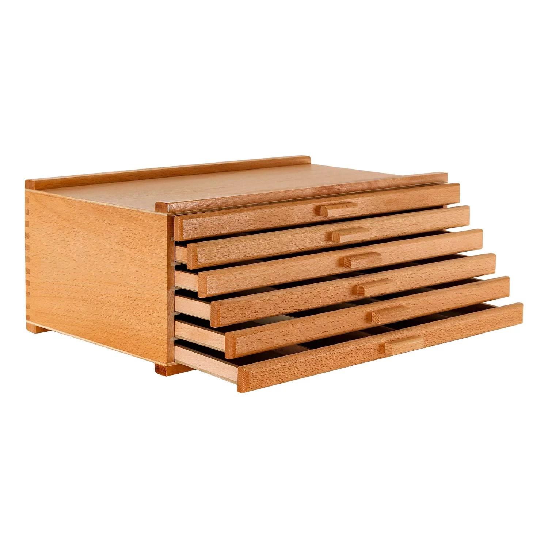 U S Art Supply 6 Drawer Wood Artist Supply Storage Box