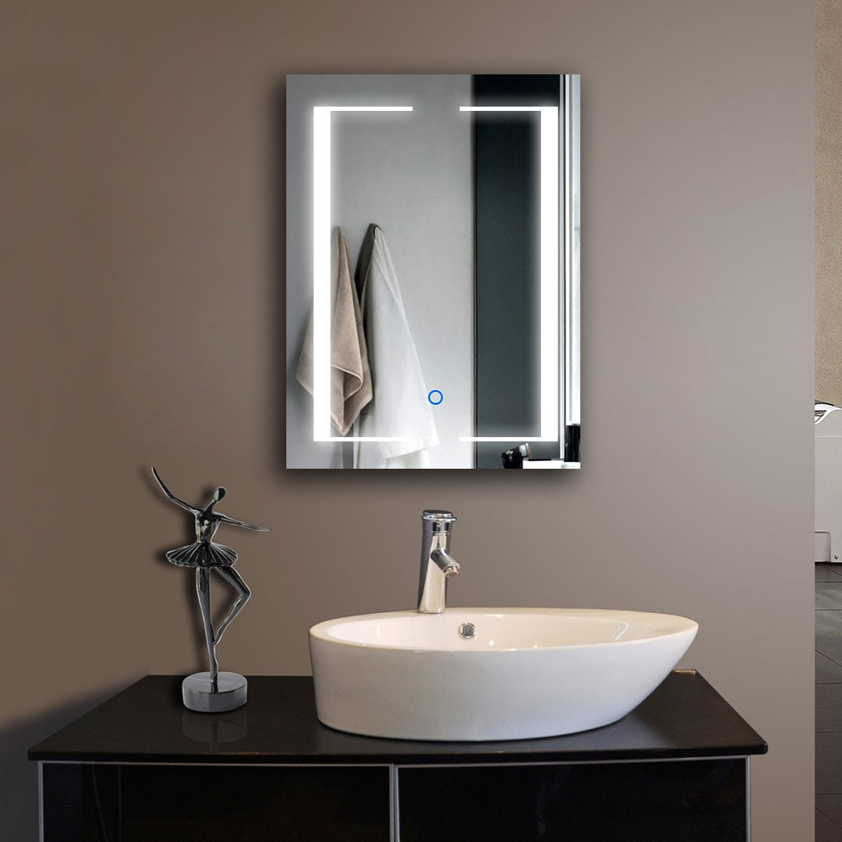 Illuminated Bathroom Mirror Decoraport 32