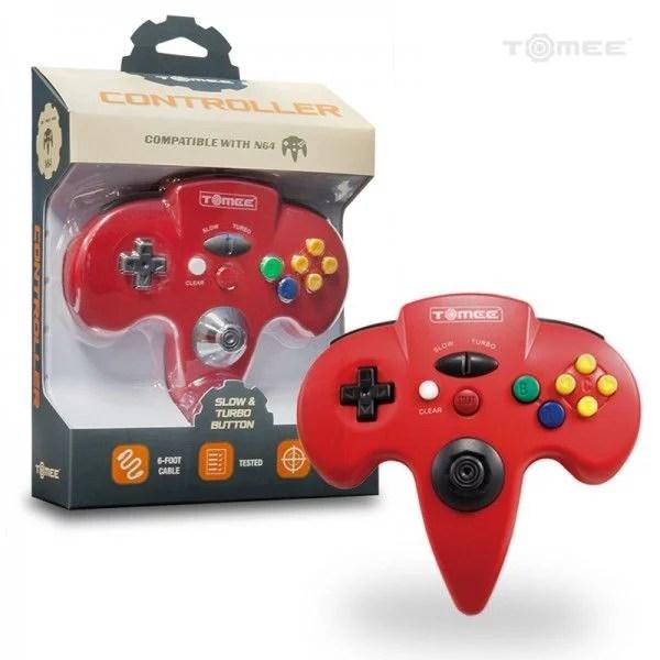 Nintendo 64 Red Tomee Controller Walmart