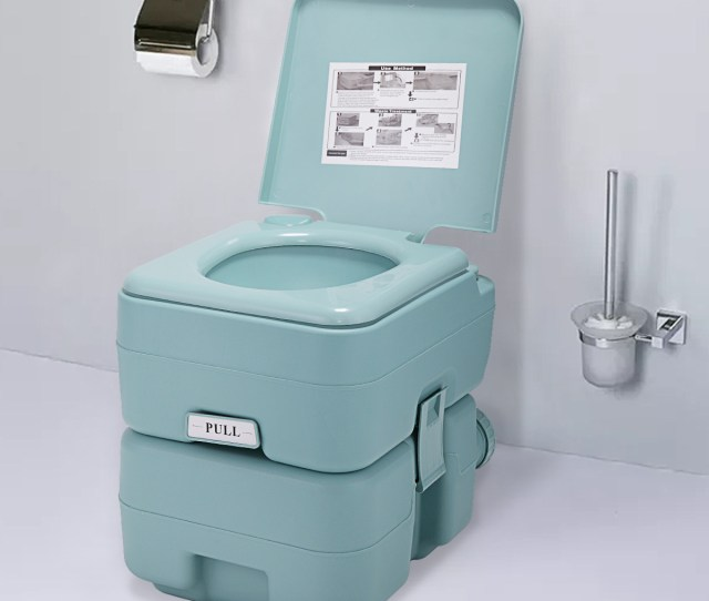 Portable Toliet L Outdoor Camping Toilet Potty Greenish Gray