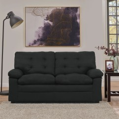 Microfiber Fabric Sofa Living Room Ideas With Black Leather Upholstered Couch Dorm Love Seat