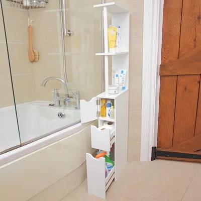 Bathroom Storage Tower Tall Slim Space Saver Cabinet