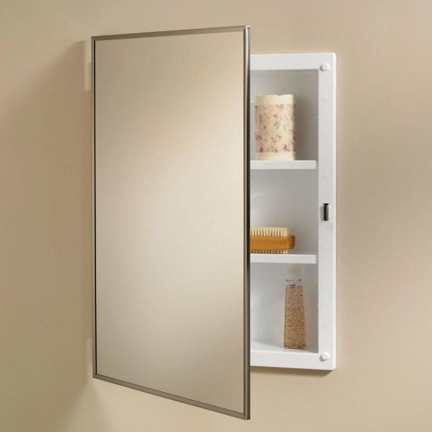 jensen medicine cabinet styleline 16w x 22h in. recessed medicine