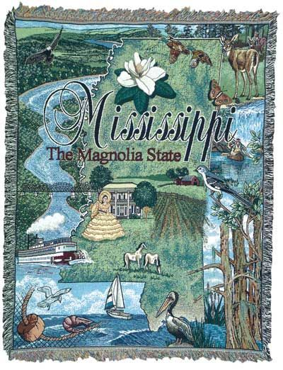 Tapestry Throw State of Mississippi Blanket Walmartcom