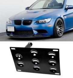 ijdmtoy front bumper tow hole adapter license plate mounting bracket for bmw e82 e88 128i 135i 1m e39 e90 e91 e92 e93 328i 335i m3 x5 x6 etc walmart com [ 1000 x 1000 Pixel ]