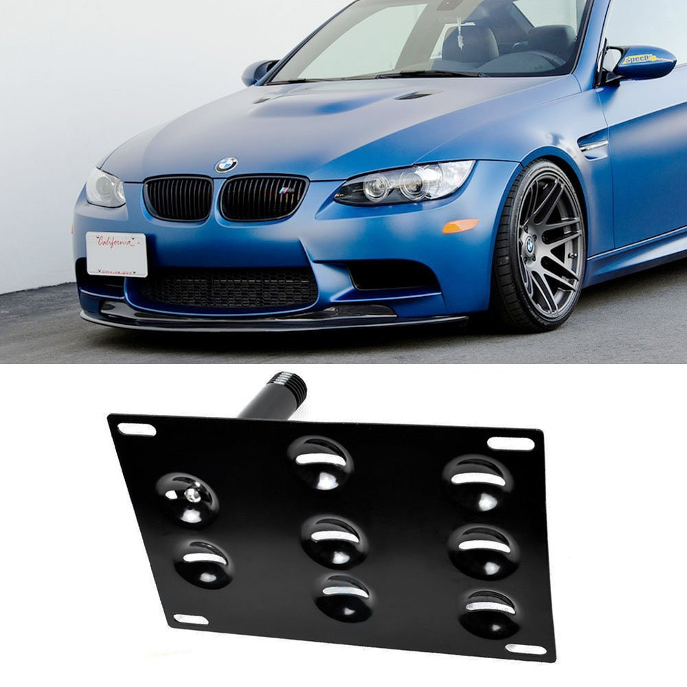 hight resolution of ijdmtoy front bumper tow hole adapter license plate mounting bracket for bmw e82 e88 128i 135i 1m e39 e90 e91 e92 e93 328i 335i m3 x5 x6 etc walmart com
