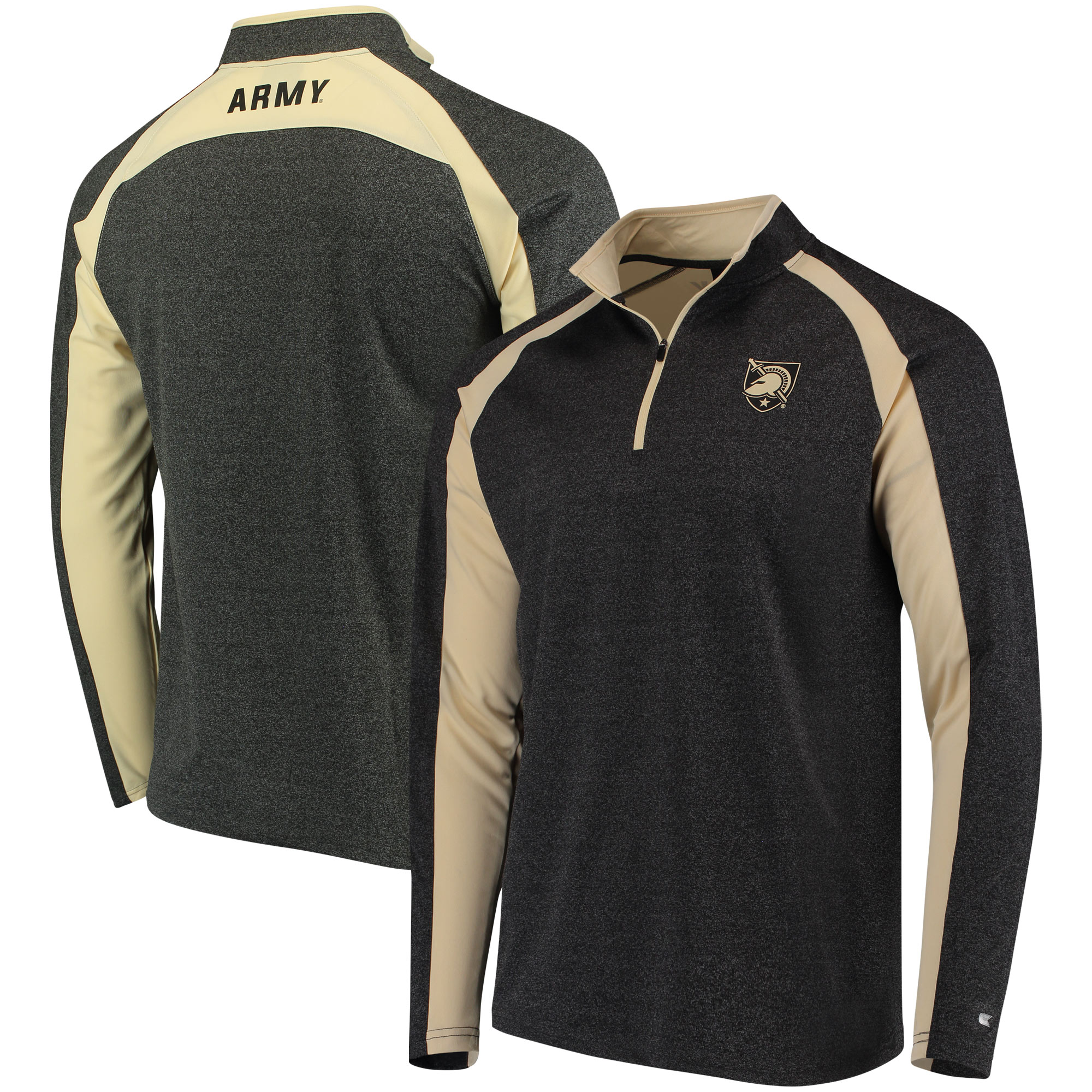 Army Black Knights Colosseum The J. Peterman Quarter-Zip Pullover Jacket – Heathered Black