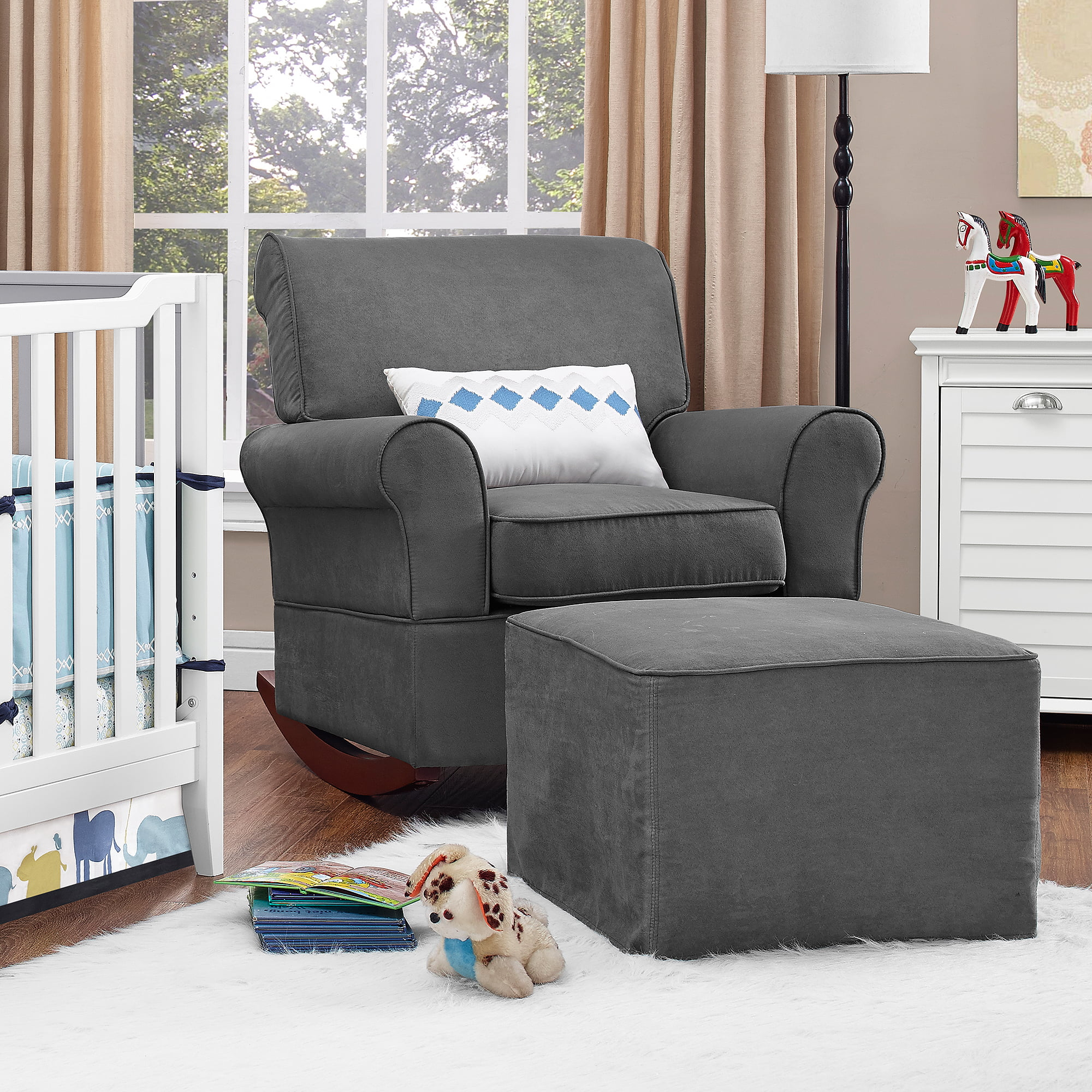 Baby Nursery Chairs Details About New Baby Nursery Rocking Chair Upholstered Grey Furniture