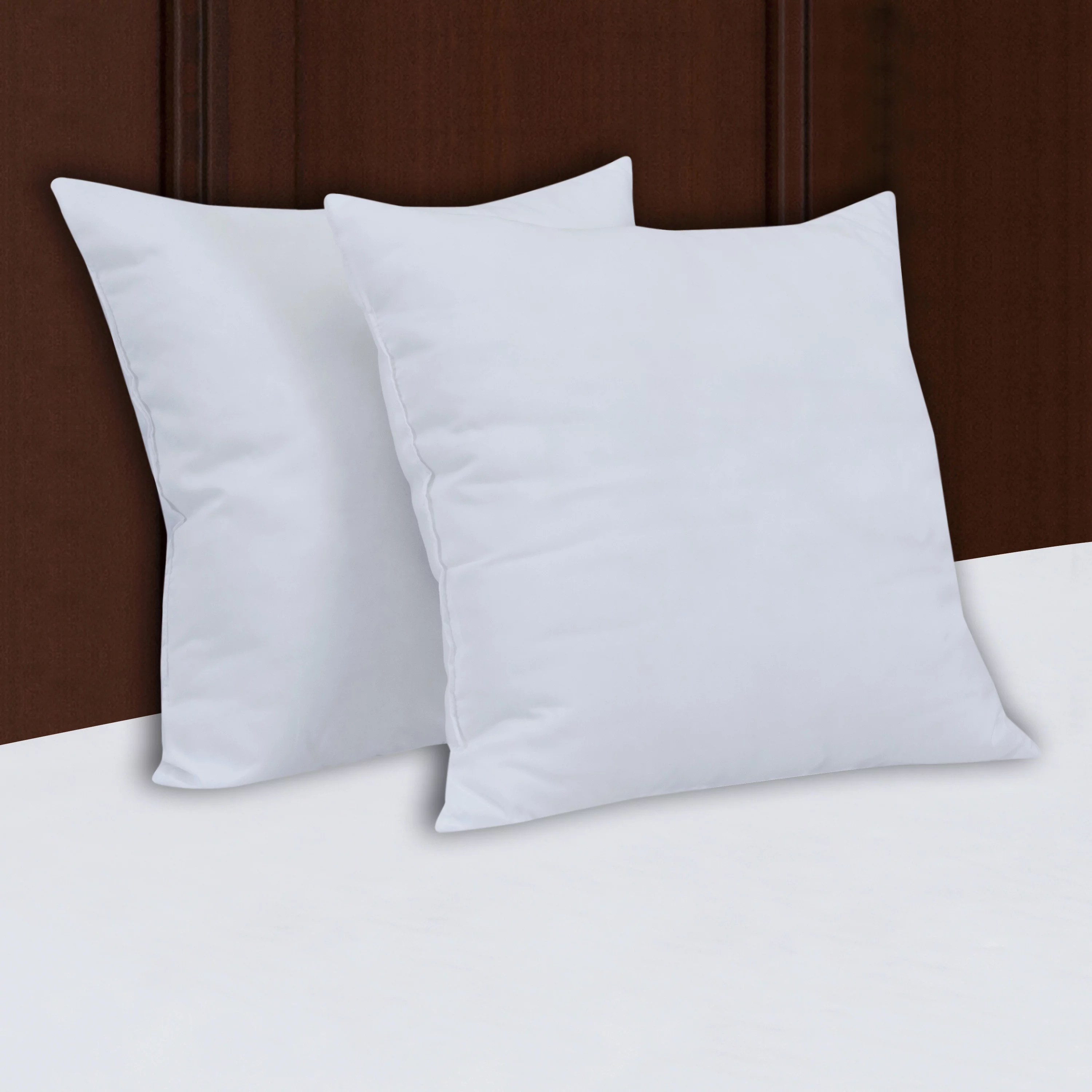 mainstays decorative pillow insert 100 polyester 18 x18 set of 2