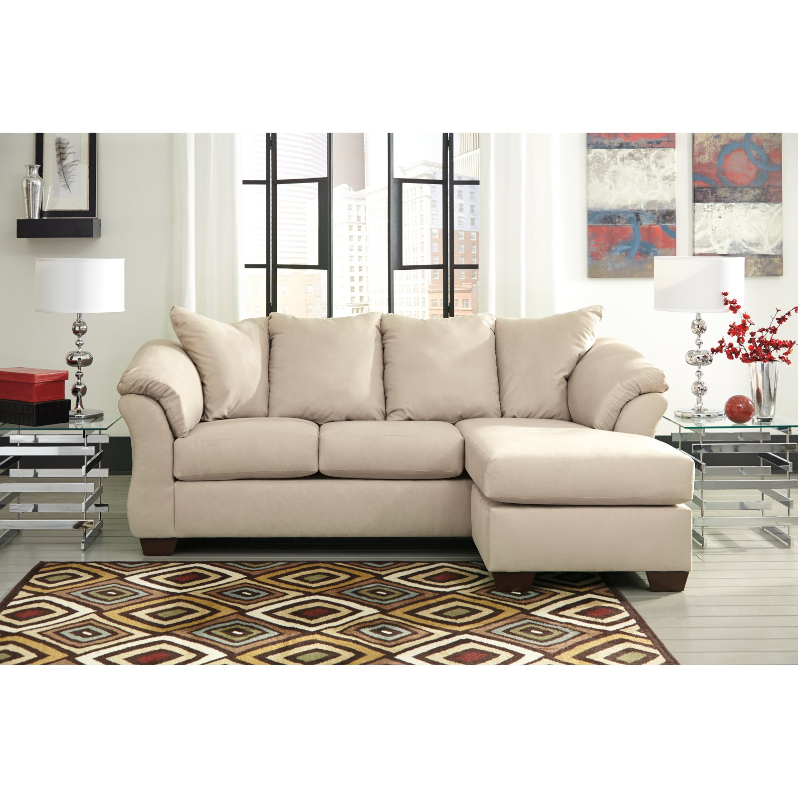 ashley darcy sofa crochet pattern for arm covers signature design by chaise walmart