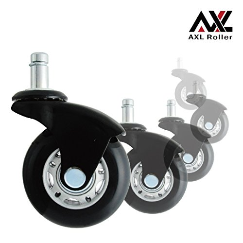 office chair rollerblade wheels damask dining axl caster replacement heavy duty with style soft rubber