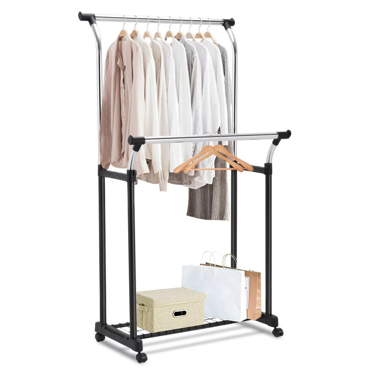 adjustable double rail garment rack