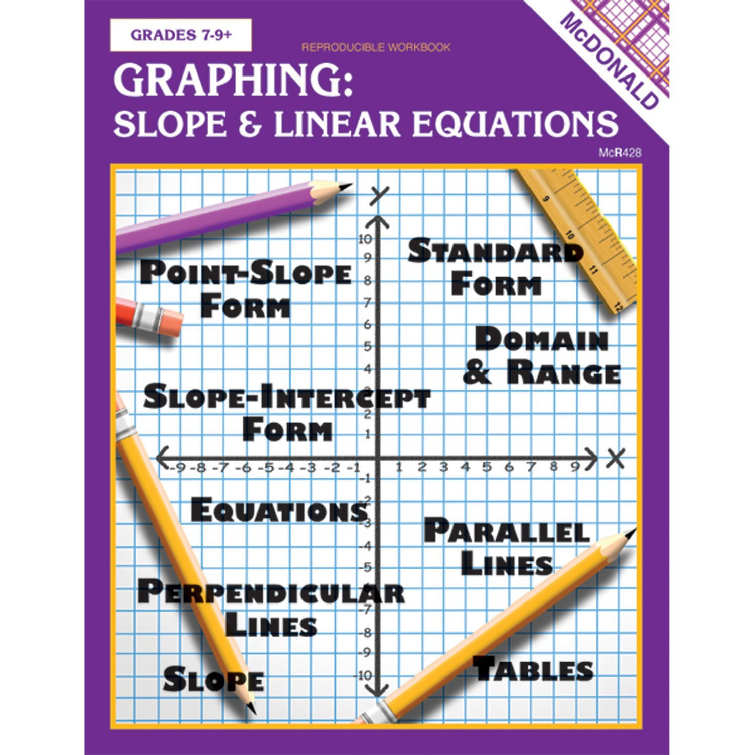 Graphing Slope Amp Linear Equations Reproducible Book