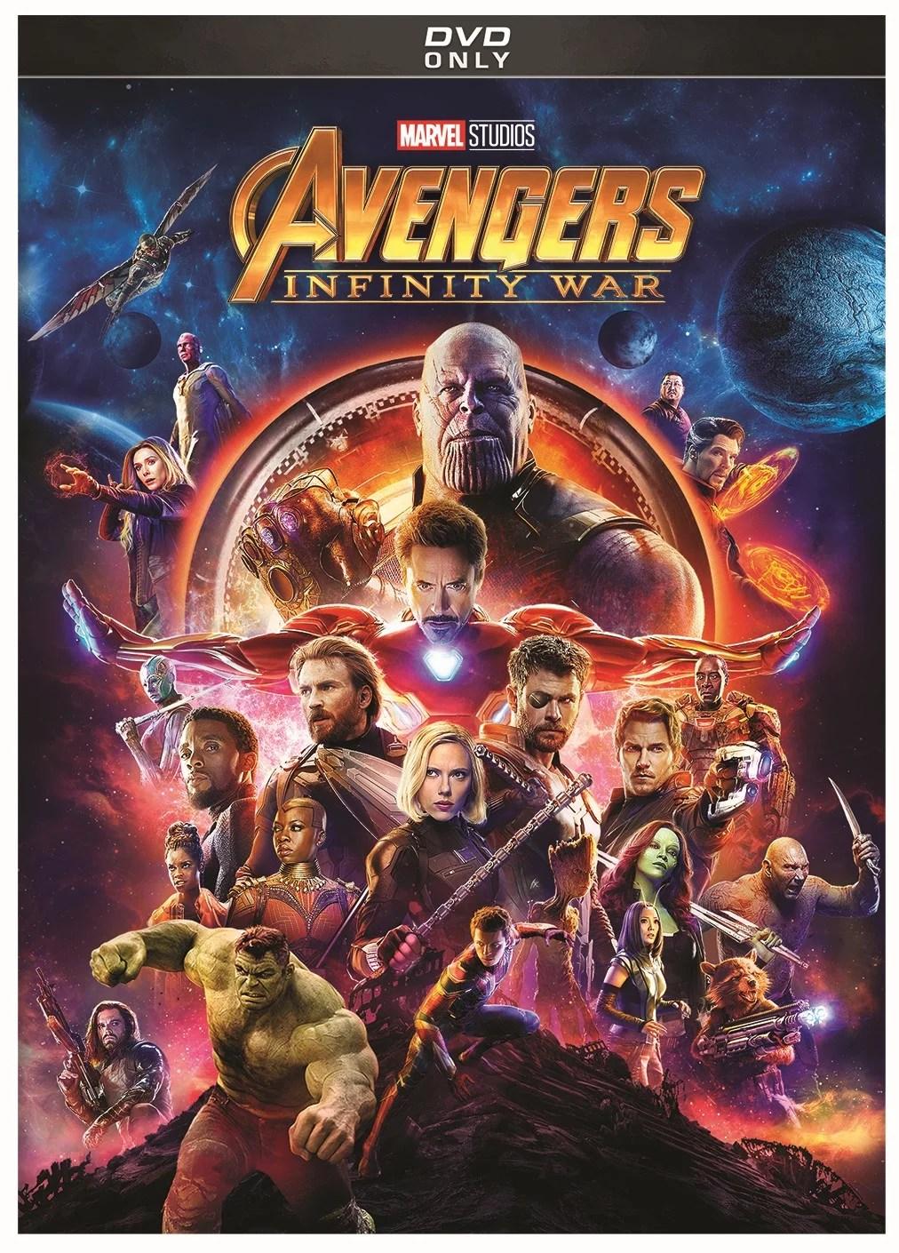 avengers infinity war dvd