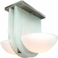 Volume Lighting 2-Light Ceiling Fixture Flush Mount ...