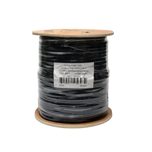 small resolution of low voltage 12 2 outdoor landscape lighting wire db uv rated cable 500ft walmart com