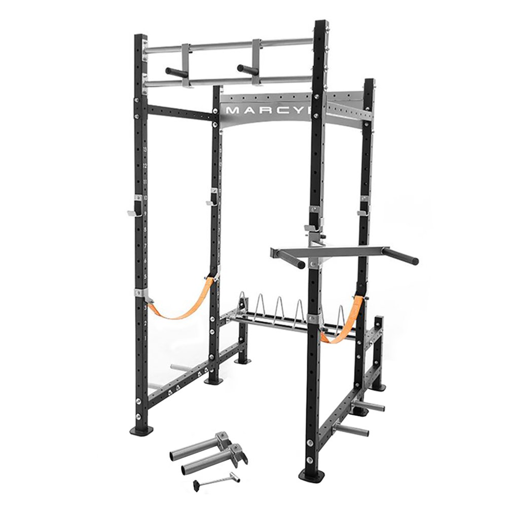 marcy pro heavy duty home workout gym pull up weight training fitness power rack
