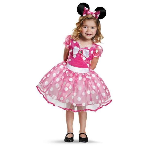 Girls Pink Minnie Mouse Tutu Costume