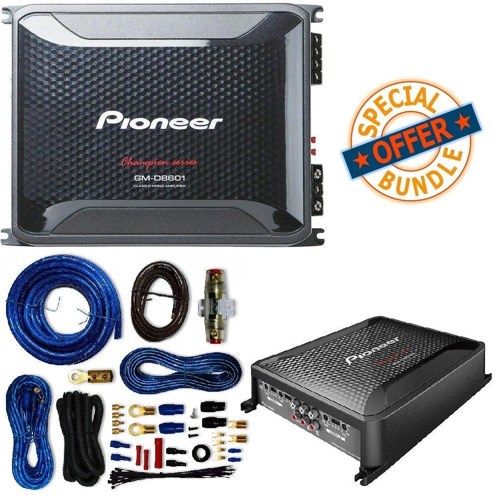 hight resolution of pioneer 1300 watts 12 single 4 ohm car subwoofer champion amplifier 2 12quot subwoofers free amp wire kit 4 channel 2 channel amp