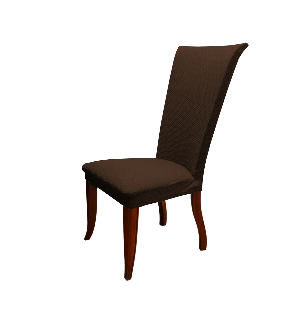 dining chair covers in store metal glides for carpet linen basket weave texture cover stretch form fitting fabric parson slipcover brown walmart com