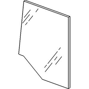 109584C2 New Cab Door Glass Made for Case-IH Tractor