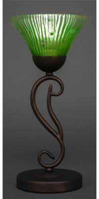Mini Table Lamp with Kiwi Green Crystal Glass Shade ...