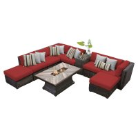 TK Classics Venice 10 Piece Outdoor Sectional Set with ...