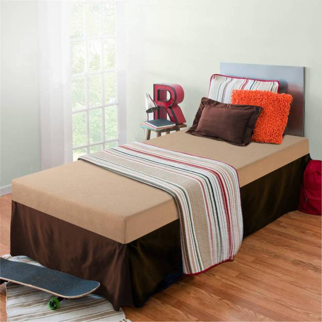 Brooklyn Twin Bed With Memory Foam Mattress Multiple Colors